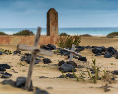 Friedhof von Cofete am Meer